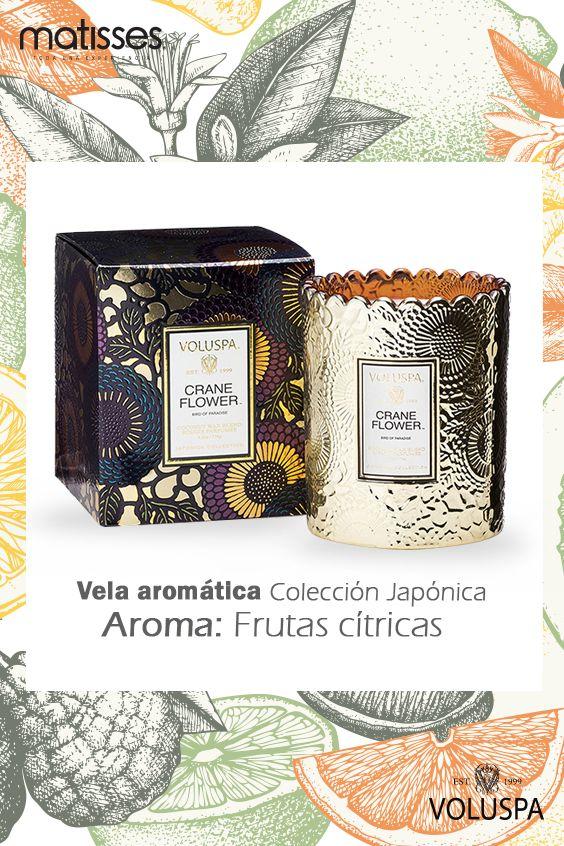 Las velas aromáticas de Voluspa, también hará parte de #ComplementosMatisses.