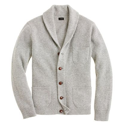 ++ Lambswool three-pocket cardigan