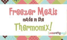 Freezer Meals Made in the Thermomix | One Crafty Mum
