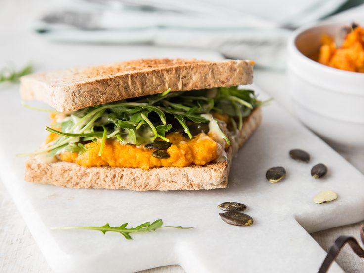 Eat clean! Sandwich mit Süßkartoffelaufstrich