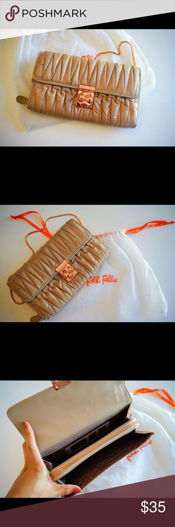 NWOT Folli Follie handbag/WOC Received as a gift. Never used. Dust bag included. Folli Follie Bags Wallets
