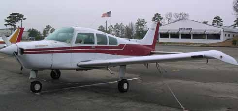 A beechcraft Sundowner N16FC.  This is my initial training airplane.  I did my first solo flight, first night flight, all my firsts were in this airplane.  I passed my private pilot flight exam in this airplane!