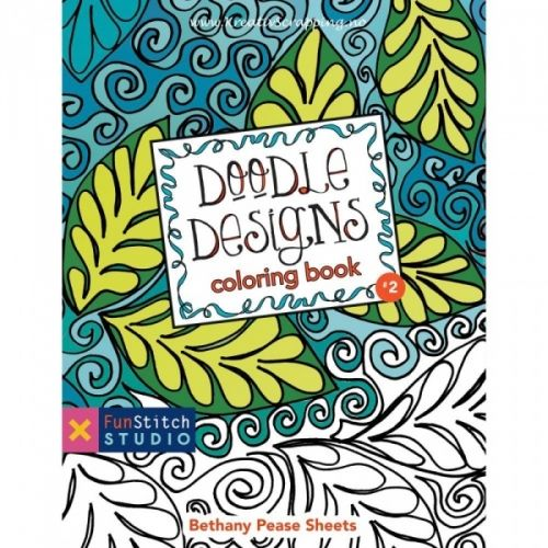FUNSTITCH STUDIO - DOODLE DESIGNS COLORING BOOKKreativ fargeleggingsbok med 18 sider å hygge seg.- En kunst aktivitet som får deg til å både slappe av og til å inspirert.     C&T PUBLISHING-FunStitch Studio: Doodle Designs Coloring Book. Coloring has never been this creative! Get inspired with 18 different designs you can color or draw or paint all day. Add your own flair with pens, pencils, crayons, markers, or paint. Learn how colors go together with the included color wheel. Auth...