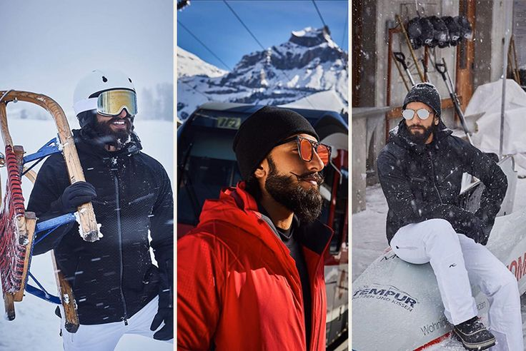 Ranveer Singh, the Indian Ambassador for Switzerland Tourism's campaign for 2017 is leaving no stones unturned in looking quirky AF.