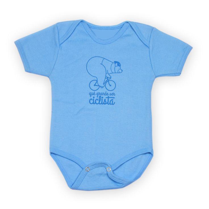 Body bebé ciclismo, de la colección qué grande ser ciclista. Disponible en tres colores. Cycling t-shirt.