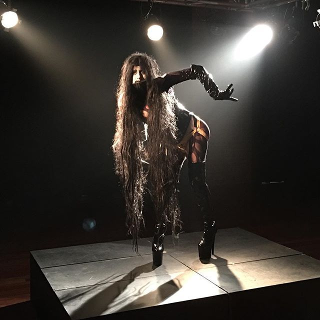 #ladonnarama for George Tillianakis #FAGGOT 2017 #musicvideo #queer #fags #goth #drag #dragqueen #bts #ootd #pvc #pleasershoes #platformshoes #longhair #fetish #kink #qwerrrkout
