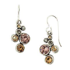 Splash Earrings in Silver, Champagne by Patricia Locke Jewelry