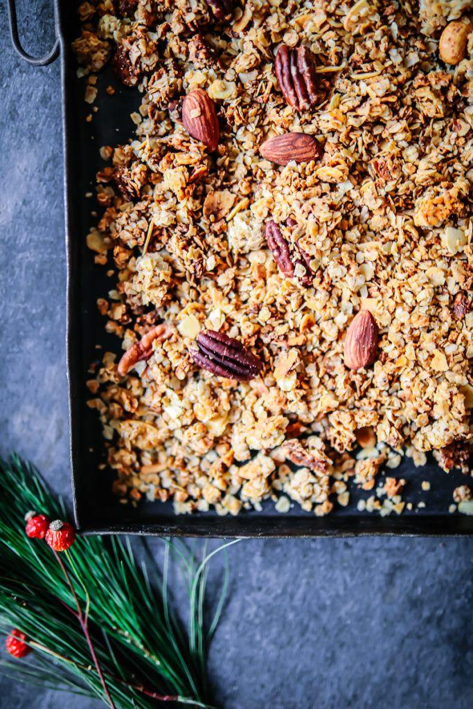weihnachtsmuesli granola lebkuchen muesli granola selber machen ...