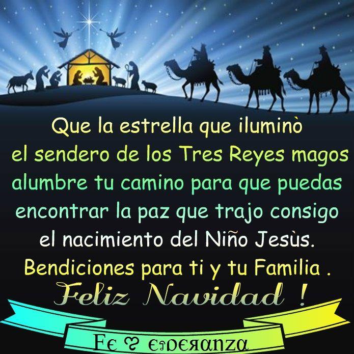 """Feliz Navidad - """"que puedas encontrar la paz que trajo consigo el nacimiento del Niño Jesús"""" :)"""