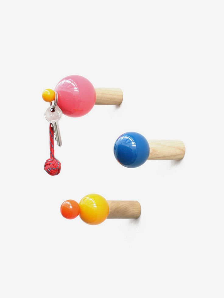 PIFF wall-hooks, €98.00 by SYLVAIN WILLENZ SHOP