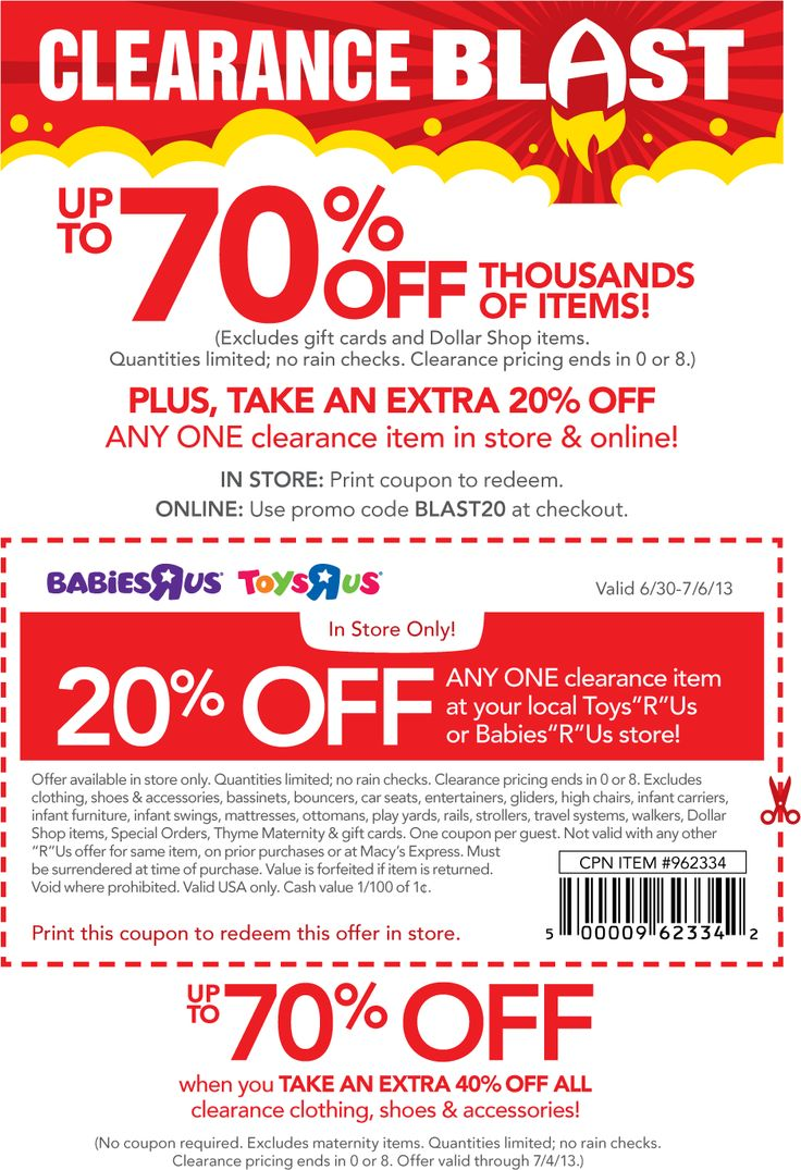 Online Babies R Us Coupon Codes 20 Off : online, babies, coupon, codes, BABIES, PROMO, Printable, Coupons, 2019:, Babies