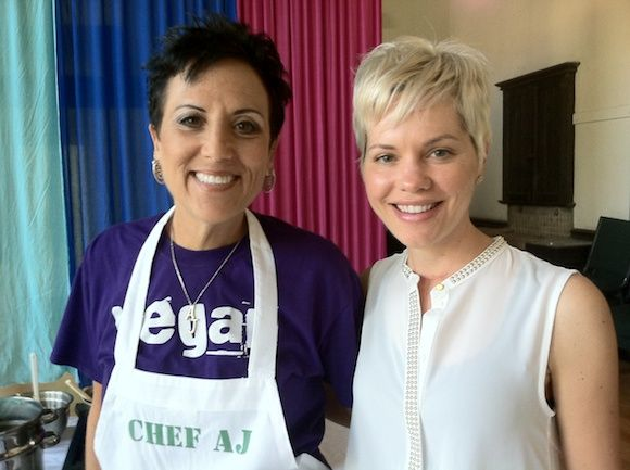 Chef AJ and Carrie of Carrie on Vegan.