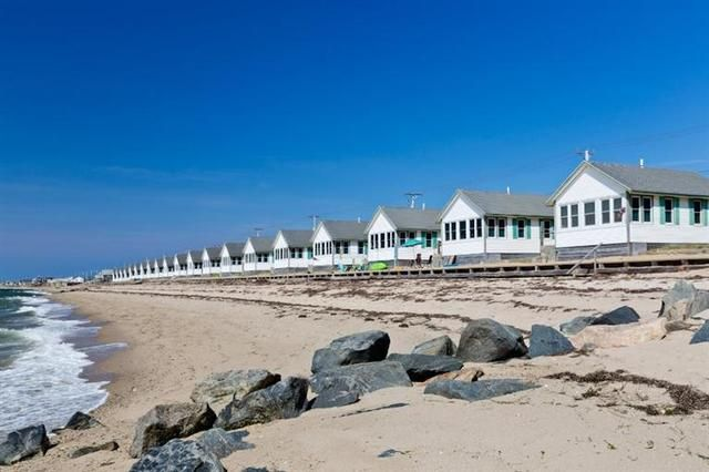 A view of Days Cottages from the beach along Cape Cod Bay in Truro. (Elyssa Cohen Photography)