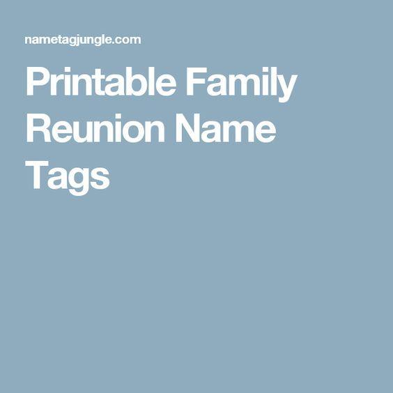 The 25+ best Reunion name tags ideas on Pinterest Class reunion - free printable family reunion templates