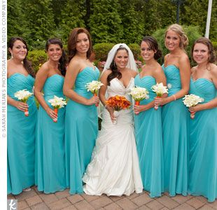 Turquoise Bridesmaid Dresses Possibility Of Wedding Color