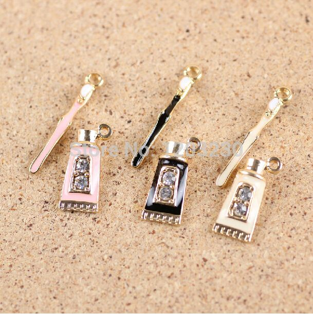 Find More Charms Information about Toothpaste & Toothbrush shape decoration material alloy drop oil gold plated necklace pendant charm 30set mix fit jewelry making,High Quality jewelry premier,China jewelry pendant trays Suppliers, Cheap jewelry welder from multicolor kingdom on Aliexpress.com