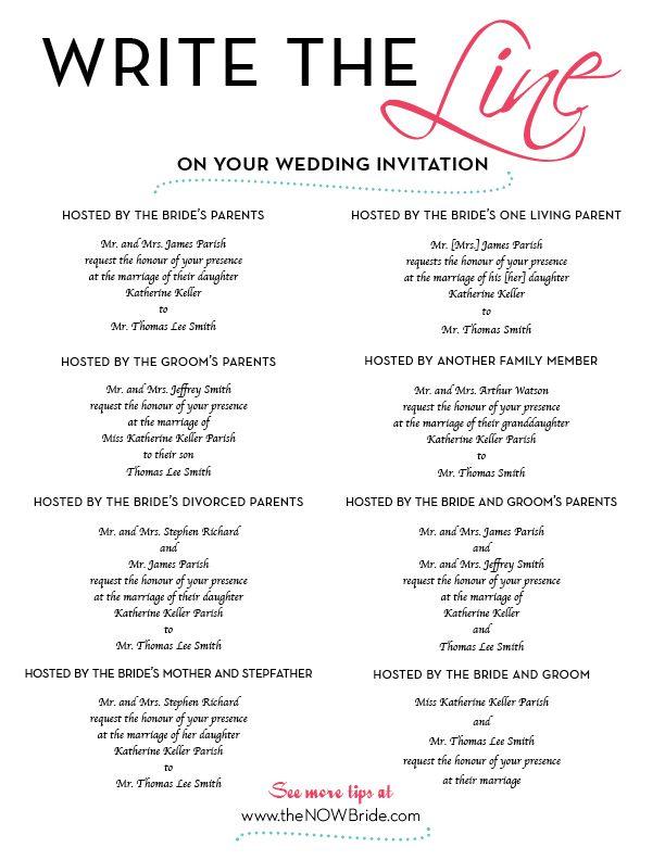 addressing wedding invitations to family