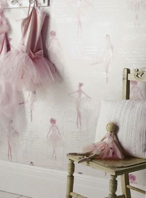 Captivating Imagine (what You Can Do) Dixons #ballerina #wallpaper #girlsroom #homedecor