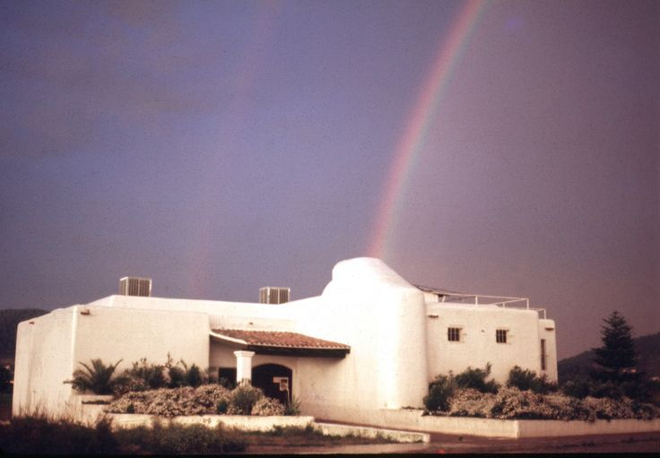 THE ORIGINAL PACHA IBIZA IN 1973 WITH AN ARCO IRIS (rainbow)