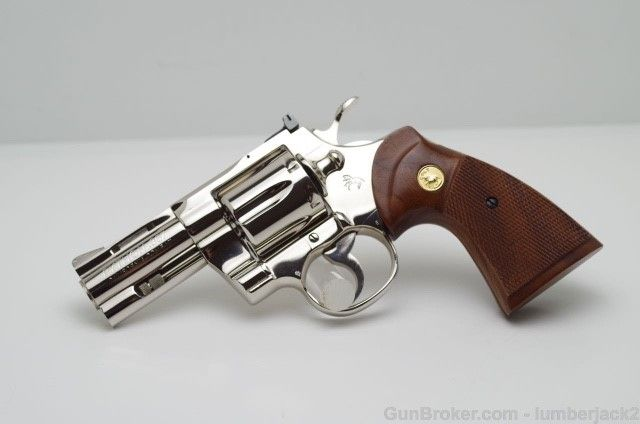 Combat Python colt california combat python nickel   i love colt handguns