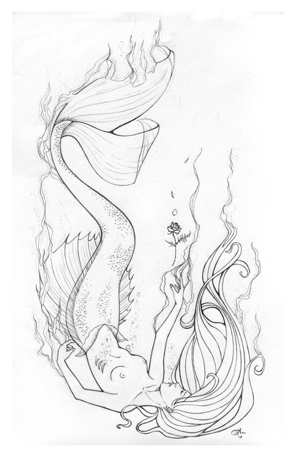 Position Of Mermaid Grabbing The Ankle Drowning Man For My Sleeve Find This Pin And More On Coloring Pages