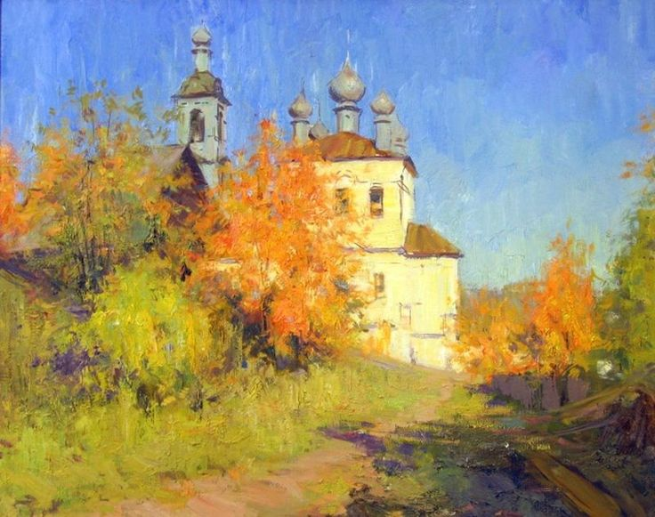Image result for russian orthodox church valaam oil painting spring