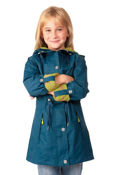 Charlotte Girls Jacket  Our Charlotte Parka is the perfect addition to any style conscious girl's springtime wardrobe. This lightweight coat features a pretty bow-print lining, a chic fishtail hem, optional cuff turn-backs and an adjustable waist drawcord, allowing the perfect fit. It is entirely waterproof and breathable, with the longer length promising to keep her super dry though the summer rain. EUR49.99 www.hehirs.com