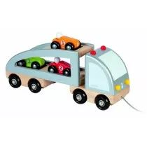 Janod's Multi Cars Trucks toy is designed to promote creative and imaginative play for all your children. Constructed all from wood, this toy is sturdy and fun. Put the electronics down and get into some real fun!