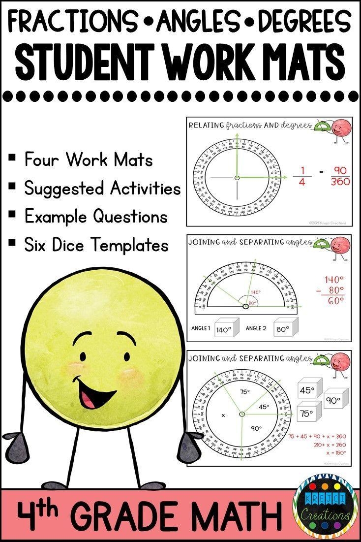 Measuring Angles Degrees And Fractions Of A Circle Math Work Mats Math Work Teaching Math Elementary Math [ 1101 x 734 Pixel ]