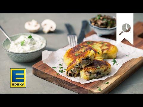 Kartoffeltaschen   Rezept mit leckerer Pilzfüllung   EDEKA - YouTube