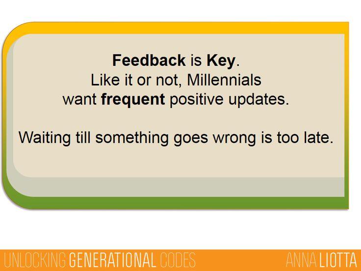 Feedback Is Key To Retaining Millennials, Gen Y