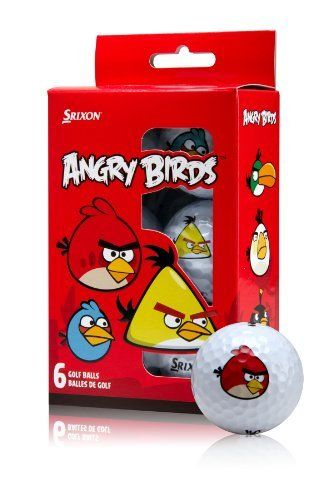 Srixon Angry Birds Golf Balls by Srixon. $10.62. Amazon.com                   Angry Birds Golf Balls from Srixon Launch your favorite Angry Bird on the golf course Ready to fly, Angry Birds Golf Balls are designed to promote a high launch angle and shallower descent for maximum distance from tee to green. Each set contains six Srixon AD333 golf balls, printed with a different Angry Bird character including Red, Chuck, Bomb, and Matilda. Key Features:  Promotes high launch ...