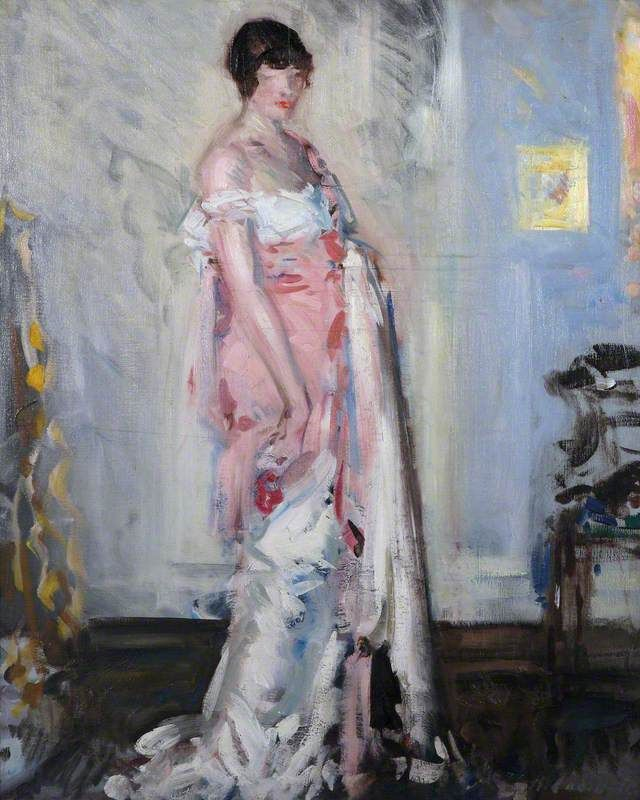 Girl in Pink and White Francis Campbell Bolleau (F.C.B.) Cadell – 1911