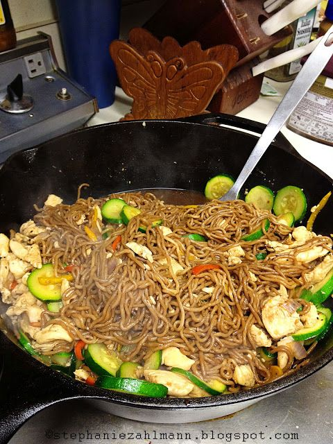 Zahlmann Zoo Crew: Lean and Green: Teriyaki Chicken with Tofu Noodles and Sauteed Veggies