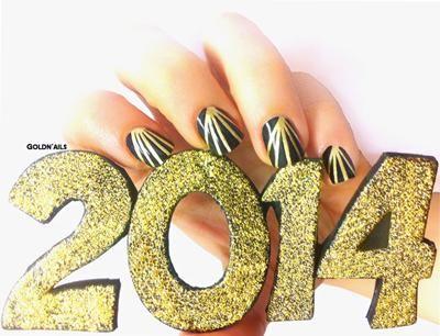 Happy New Year Nails. עיצוב: גולדי פורמן. GoldN'ails