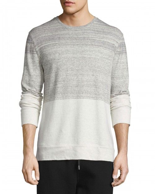 Helmut+Lang+Gradient+Heathered+Crewneck+Sweater+Sand+Heather+|+Clothing