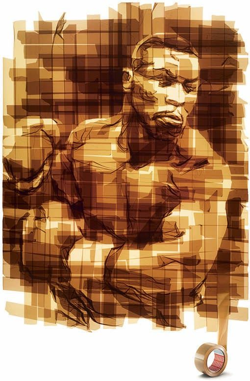 Karya Seni Kreatif bahan Selotip Lakban oleh Mark Khaisman