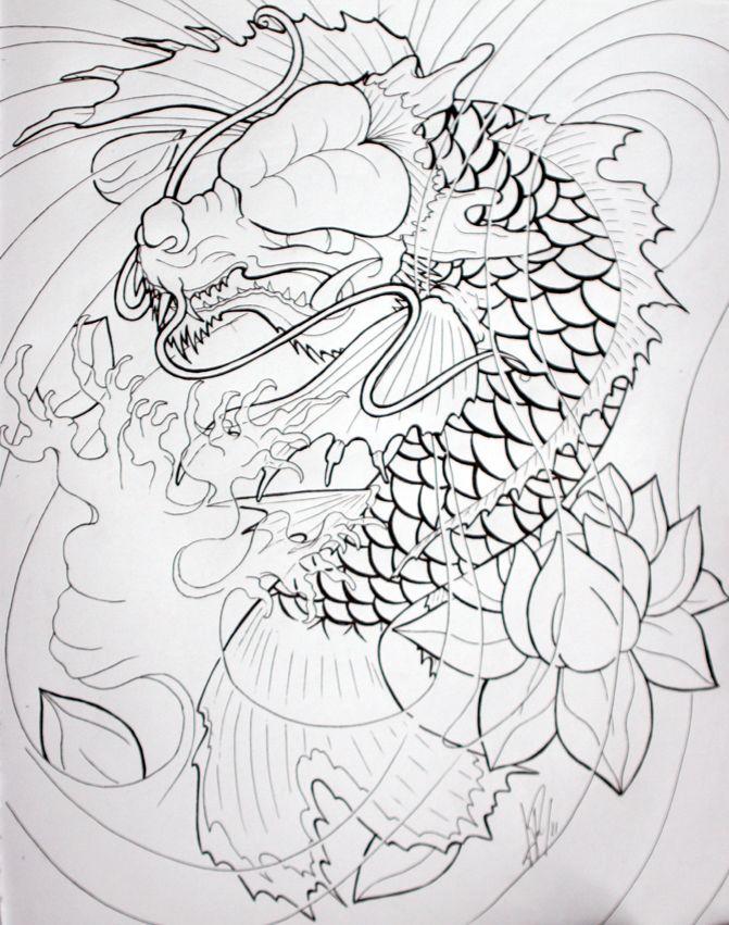 Dragon Koi by Skelos.deviantart.com on @DeviantArt