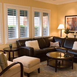 Living Room Decor With Dark Brown Sectional 33 best dark furniture decor images on pinterest | brown leather
