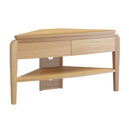 Samuel natural oak corner TV unit