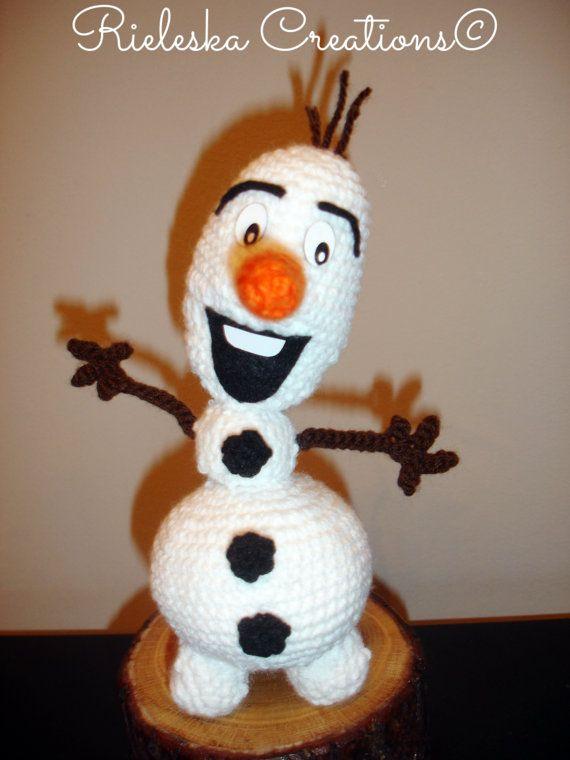 Crochet pattern pdf amigurumi Olaf From Frozen by Rieles on Etsy