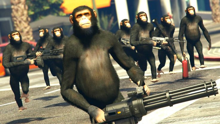 GTA 5 Mods - HARAMBE'S REVENGE / MONKEY ARMY MOD! (GTA 5 PC Mods)