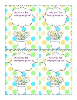 Classroom Volunteer Gift Tags - free!