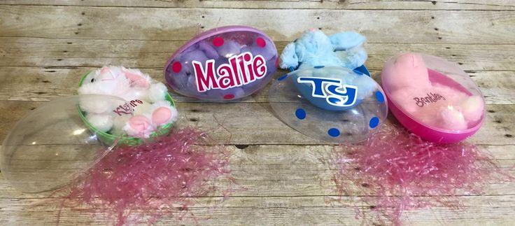 Jumbo Personalized Easter Eggs/Plastic Jumbo Easter Eggs/Big Easter Eggs by BabyCakes0458 on Etsy