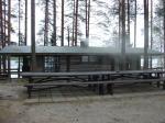 Smoke sauna of Hotel Herttua. Kerimäki, Finland.