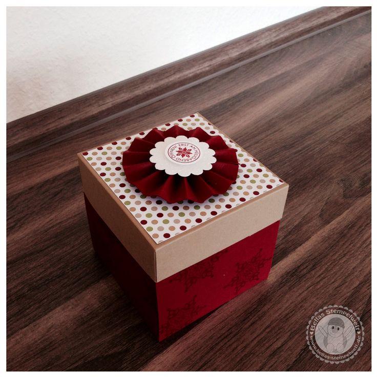 35 besten stampin up explosionsbox weihnachten bilder auf. Black Bedroom Furniture Sets. Home Design Ideas