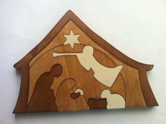 Portal de belen puzzle de madera por Planetasierra en Etsy