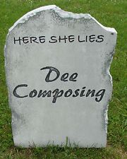 Halloween 'Dee Composing' tombstone prop decoration 24