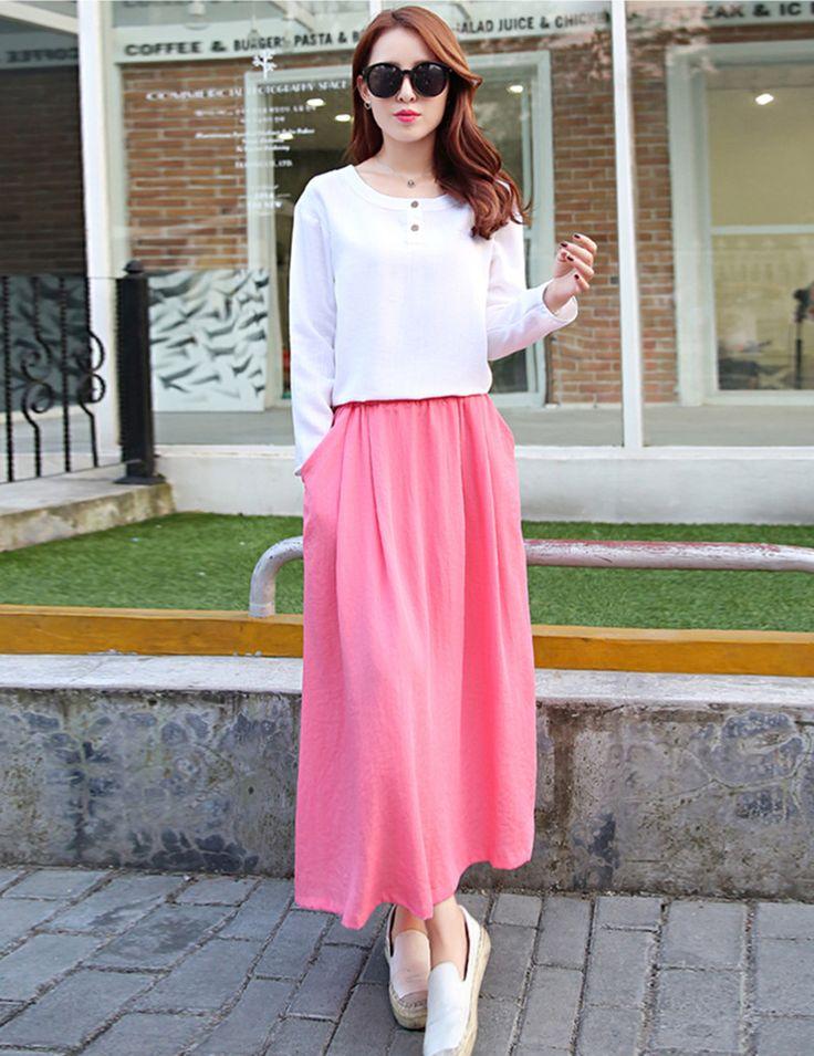 Весна осень с длинным рукавом платье макси платья Большой размер длинные рубашки выкройки одежды интернет магазин одежды