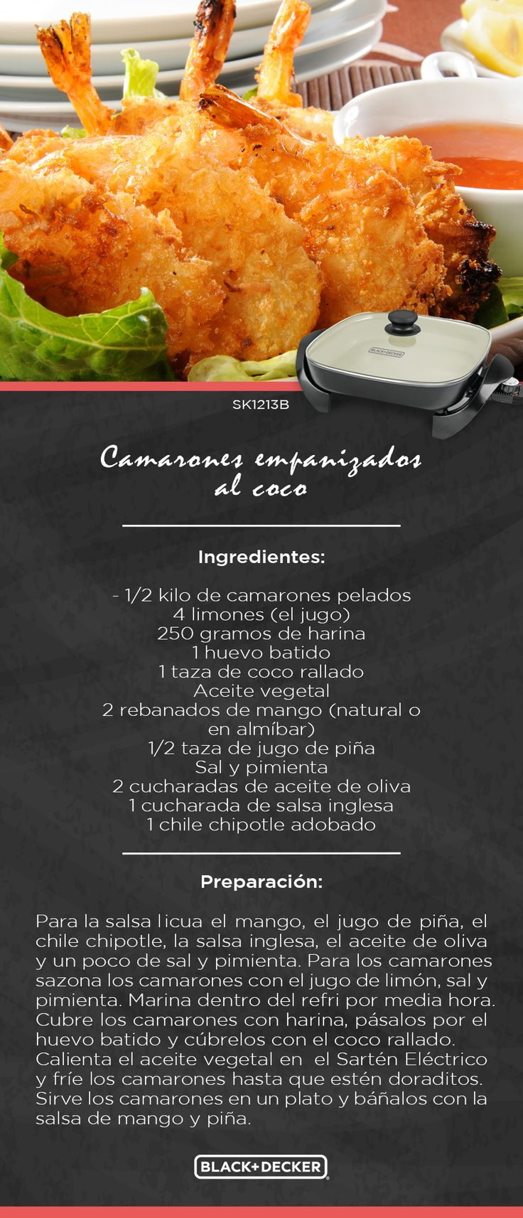 Camarones empanizados al coco con salsa de mango un verdadero acierto para esta #Cuaresma #EverydayLiving
